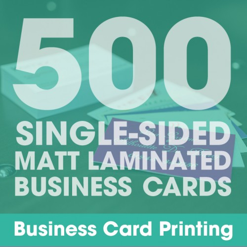 Business Cards - Matt Laminated 500 Single-Sided