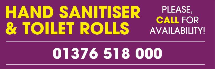 Hand Sanitiser - Call For Availability