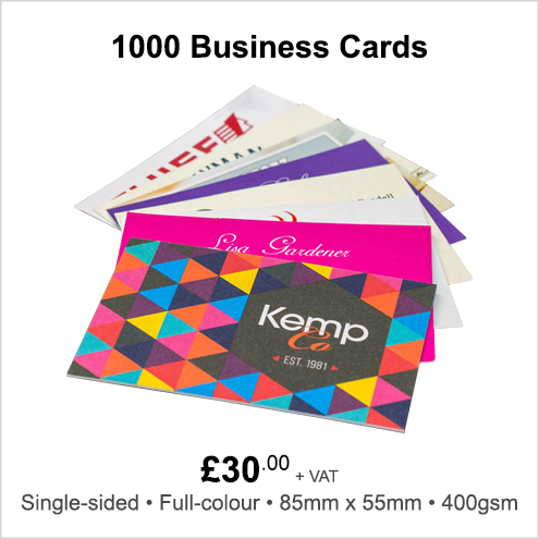 Business Card Printing at the KempCo Print Shop in Witham