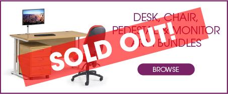 Desk, Pedestal, Monitor Arm & Chair Bundles from Kempco