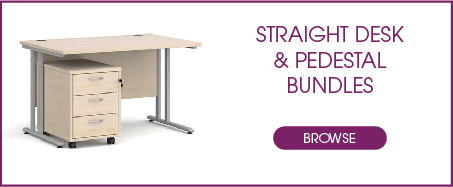 Straight Desk with Pedestal Bundles from Kempco