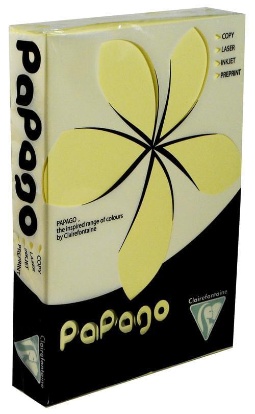 Papago A4 80gsm Pastel Yellow Copier Paper 500sh
