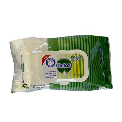 Detox Anti-Bacterial Hand/Surface Wipes (pk120)