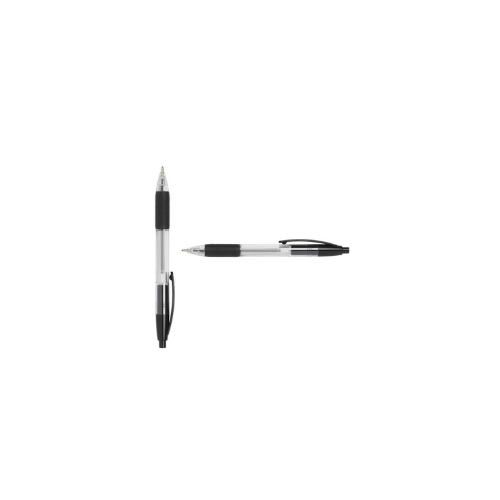 ValueX Retractable Ball Pen Rubber Grip 0.7mm Black (Pack 10)