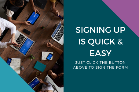 graphic stating why to sign up to a business account