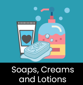 Soaps, Cream and Lotions