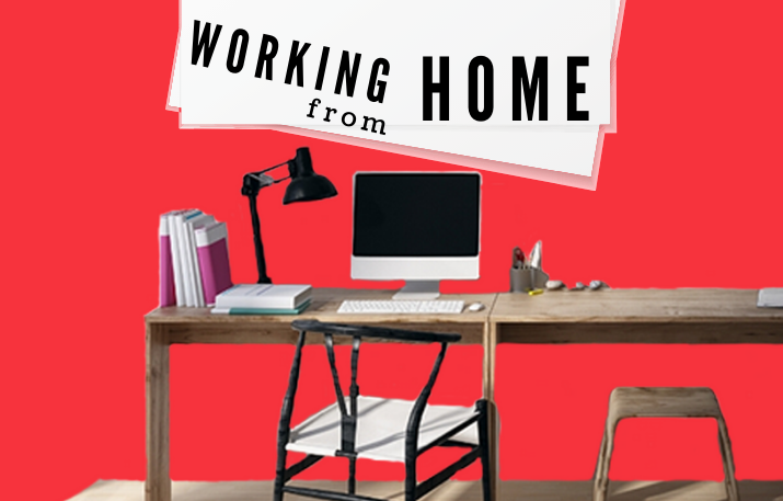 Banner showing a home office