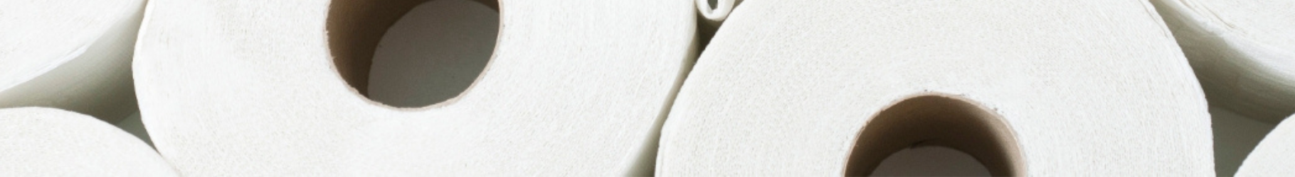 banner showing toilet paper