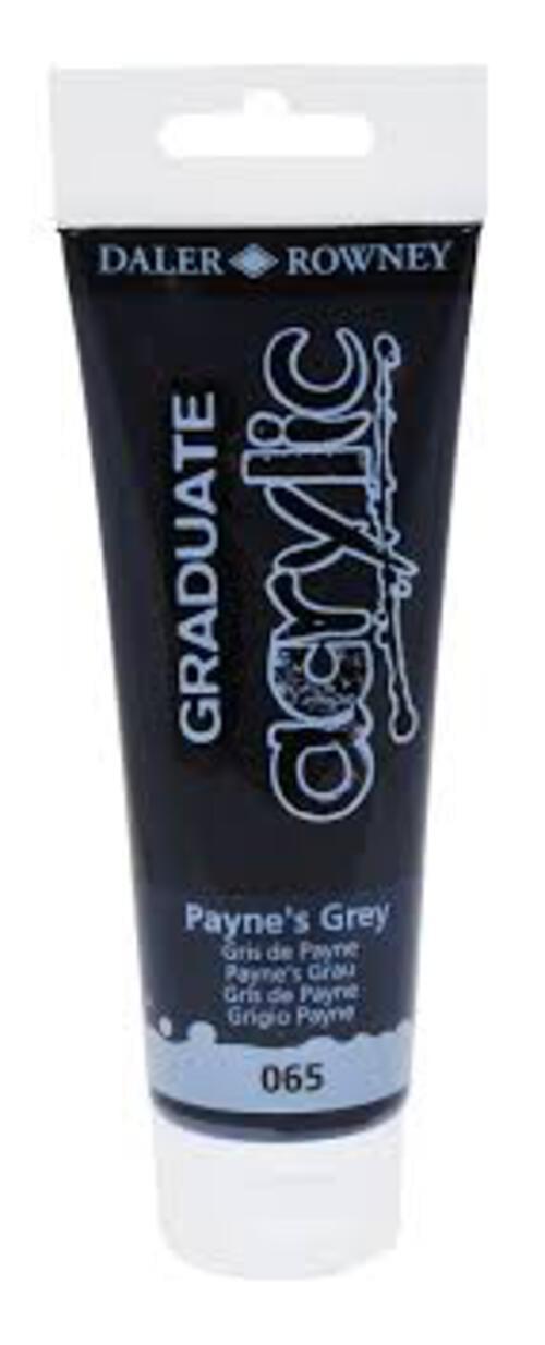 Graduate Acrylic 120Ml Paynes Grey