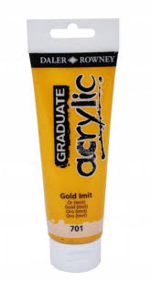 Graduate Acrylic 120Ml Gold