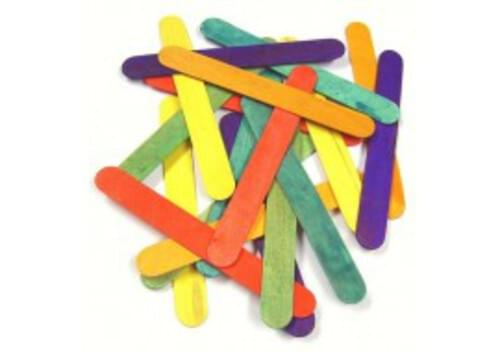 Coloured Craft Sticks - 100pk