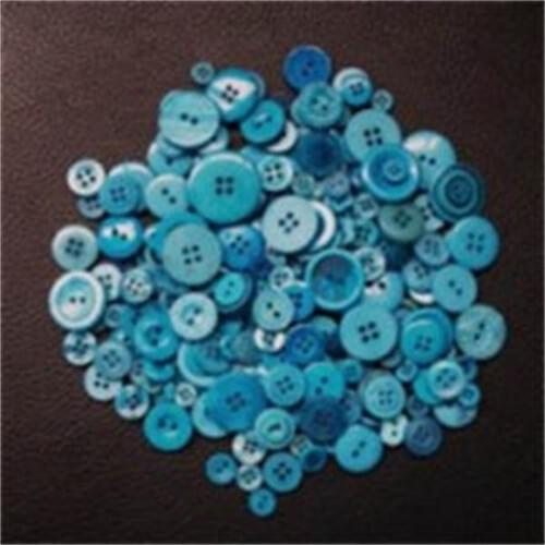 Assorted Buttons Cool Colours - 450grm