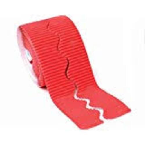 Bordette Plain Scalloped Edge - Flame Red