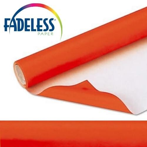 Fadeless Display Paper Orange Colour - 15m