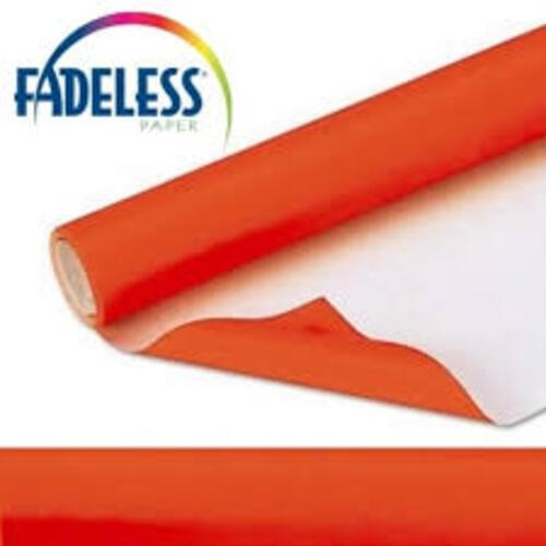 Fadeless Display Paper Orange Colour - 3.6m