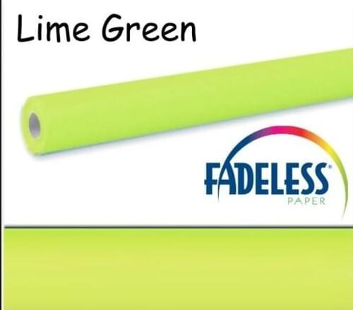 Fadeless Display Paper Lime Green Colour - 3.6m