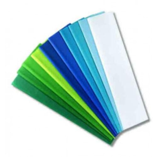 HAZA Tissue Assorted Cool Colour Pack - 20 Sheets