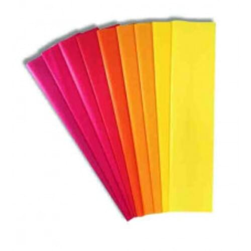 HAZA Tissue Assorted Warm Colour Pack - 20 Sheets