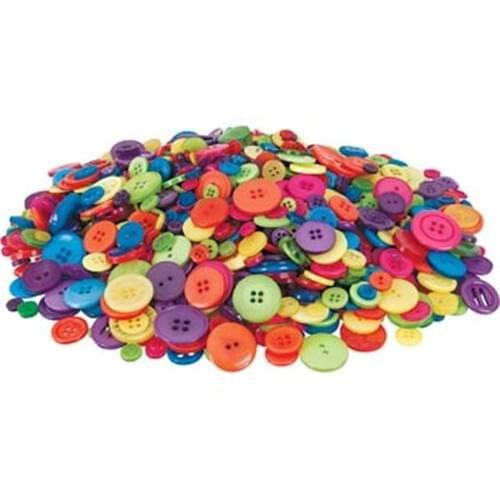 Assorted Buttons Classic Colours - 450grm