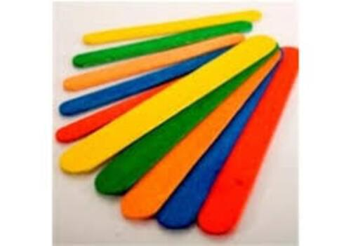 Lollipop Sticks - Jumbo - Coloured - 100pcs