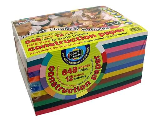 A4 Coloured Paper Bumper Pack - 12 Colours 648 Sheets