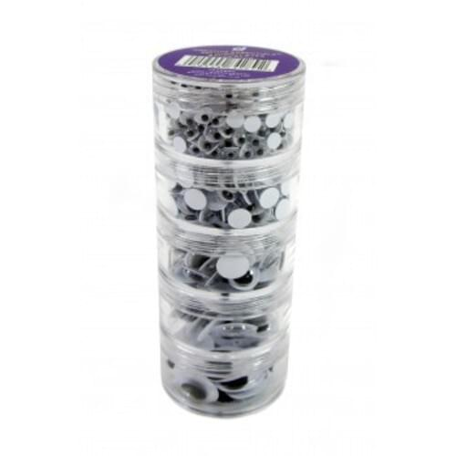 Wiggly Eyes Stack Packs Black 560 Pieces