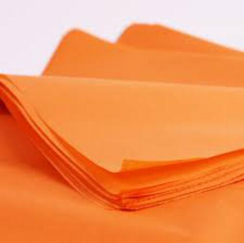 Tissue Paper Single Colour Orange - 5 Sheets
