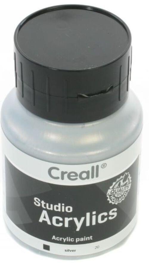 Creall Studio Acrylic 500ml - Silver Metallic