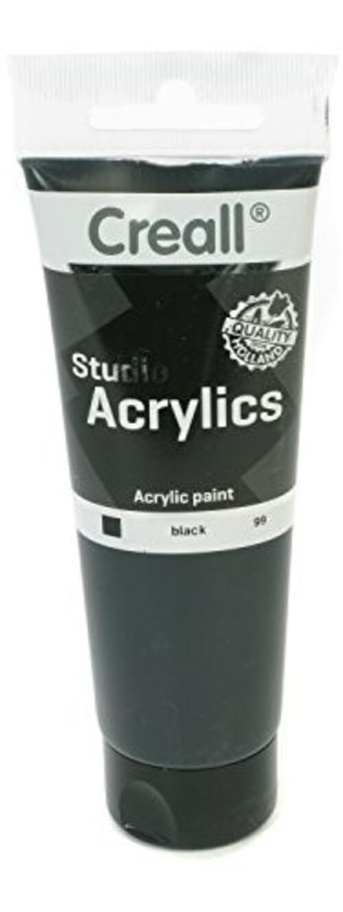 Creall Studio Acrylic 120ml - Black