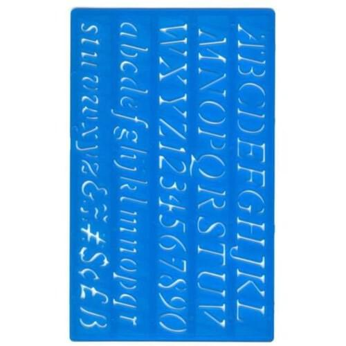 Italic Lettering Stencil - Upper and Lower Case - 20mm