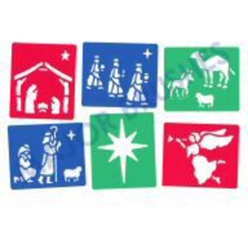 Christmas Stancil 130mm x 150mm - Set of Six