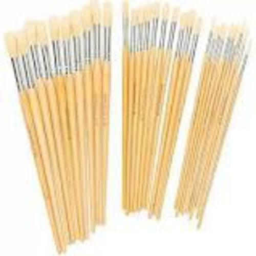 Hog Bristle Brush Long Handle Round #6 - 10pk