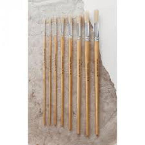 Hog Bristle Brush Long Handle Round #12 - 10pk