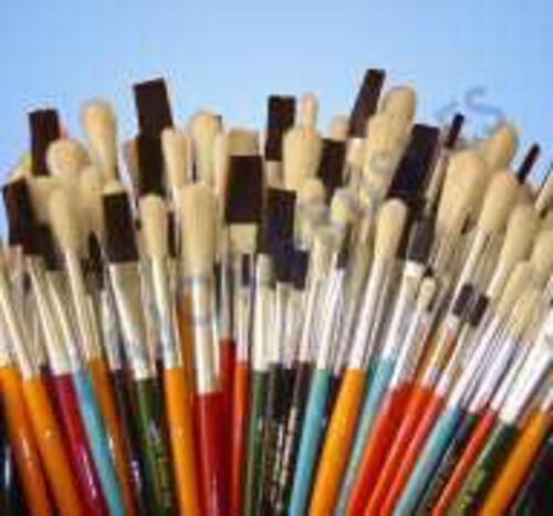 Assorted Coloured Handle Synthetic Brush Set - 144 Pack