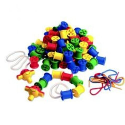 Coloured Plastic Cotton Reels 100 Piece