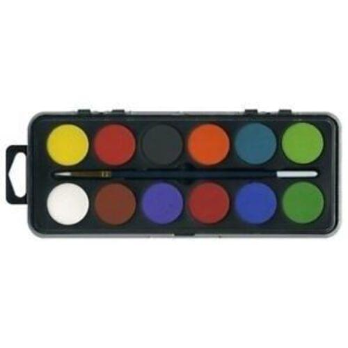 12-Disc Paintset with Synthetic Brush