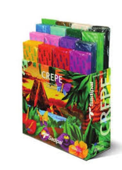 Crepe assorted display box 80 rolls x 16 colours -  Sadipal