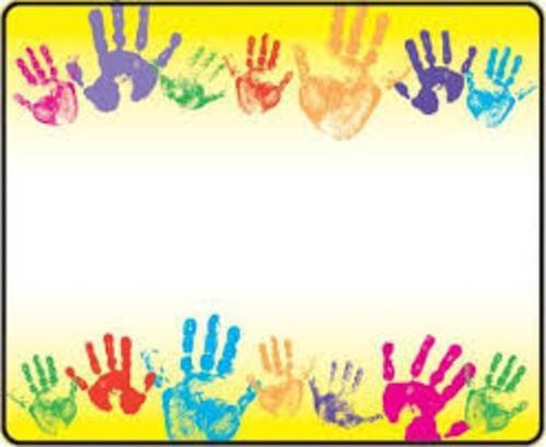 Rainbow Handprints Terrific Labels