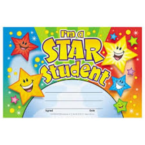 Recognition Award - I'm a Star Student