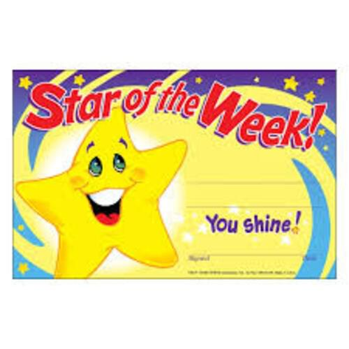 Recognition Award - Star of the Week