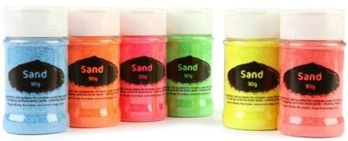 Coloured Sand Shaker 350g - Flourescent Green