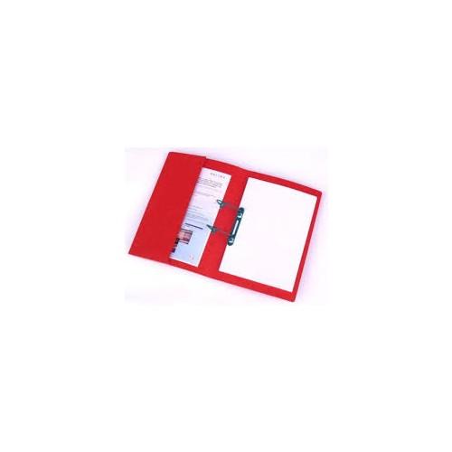 Railex Polifile with Pocket 346gsm Foolscap Ruby PL5P 8 Pk25