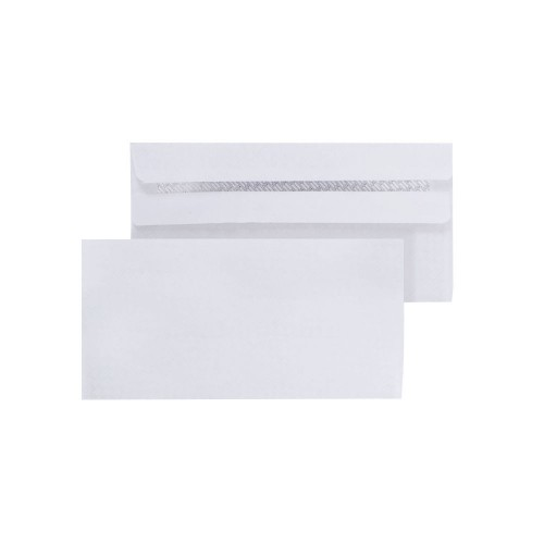 Envelopes White S/Seal DL 80gsm Pk1000