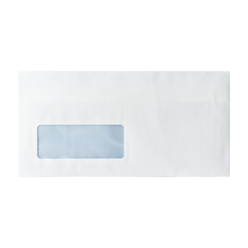 Envelopes White DL Window S/Seal Pk1000