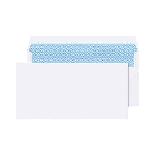 Envelopes White DL 90gsm Self Seal Pk1000