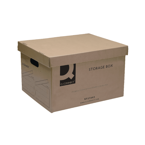 Contract Brown Storage Box 335x400x250mm Pk10