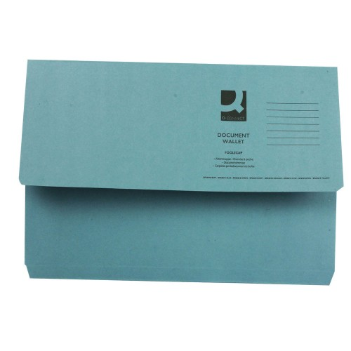 Document Wallet FScap Blue Pk50