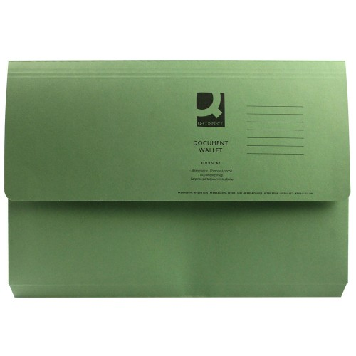 Document Wallet FScap Green Pk50