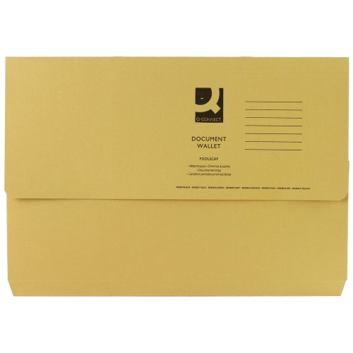 Document Wallet FScap Yellow Pk50