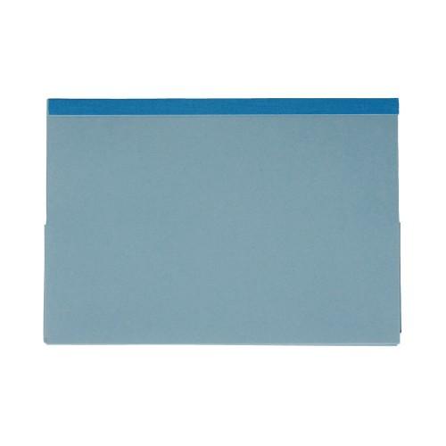 Bomford Double Pocket Wallets Foolscap Blue